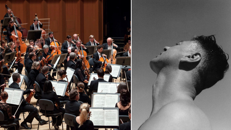 L'Orchestre national de Lyon © David Duchon-Doris / Etienne Daho © Jono Luis Bento (montage LC)