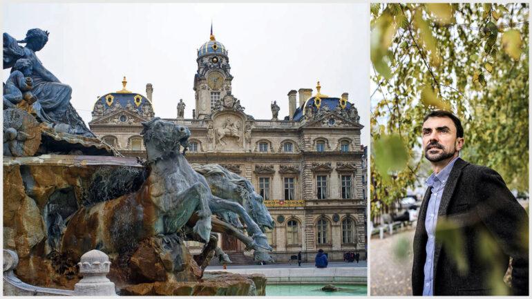 Grégory Doucet, candidat EELV à la mairie de Lyon © Tim Douet / A.Merlet (montage LC)