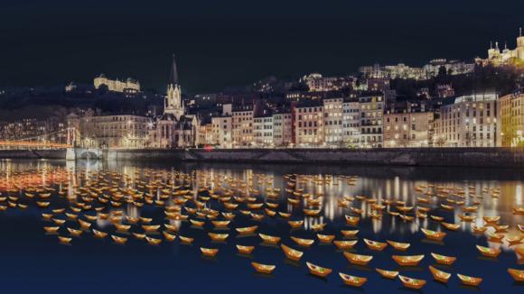 Une rivière de lumières – Fête des lumières 2019 © DR