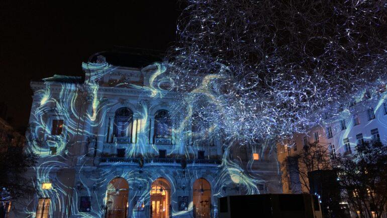 Lightning Cloud, de Jérôme Donna, place des Célestins – Fête des lumières 2019 © Muriel Chaulet / Ville de Lyon