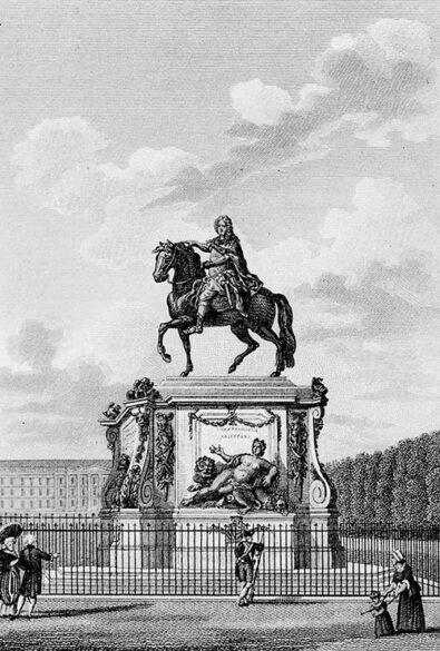 Première statue équestre de Louis XIV, 15PH1 438, Archives municipales de Lyon
