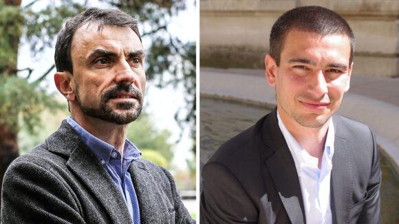 Grégory Doucet (EE-LV) et Yann Cucherat (LREM), candidats aux municipales 2020 à Lyon