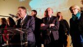 David Kimelfeld et Gérard Collomb aux voeux du 4e arrondissement