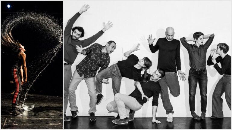 """Photo du spectacle """"Vilain!"""" et les danseurs de """"Dans le détail"""" © Florian Jarrigeon / Denis Plassard (montage LC)"""