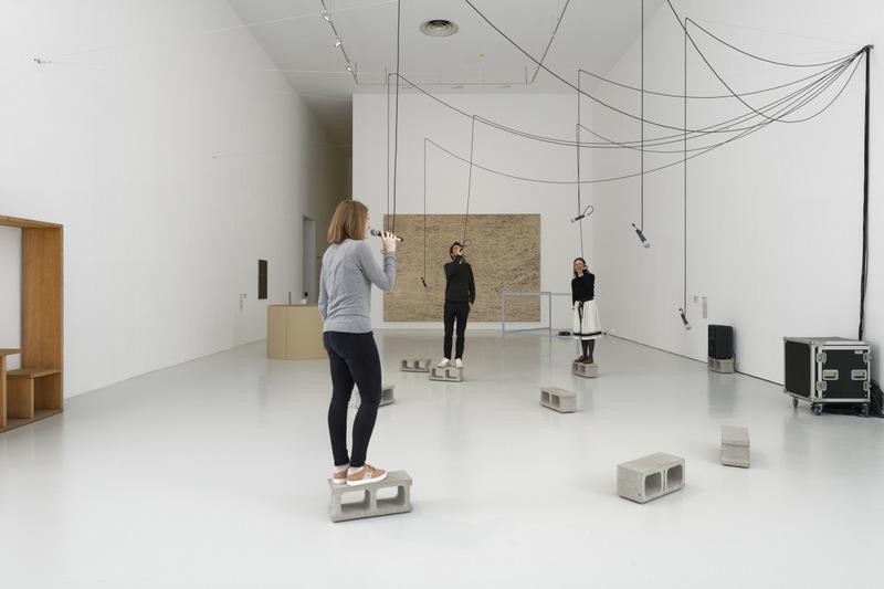 """Vue de l'exposition """"Entrare nell'opera"""" au MAMC de Saint-Etienne © Aurélien Mole"""