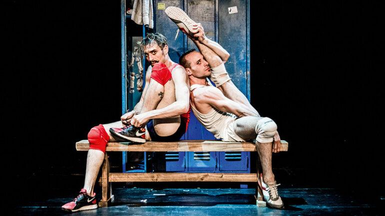 "Luciano Rosso et Alfonso Baron dans ""Un poyo rojo"" © Paola Evelina"