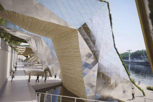 Un des aménagements de la rive droite du Rhône proposé par Etienne Blanc