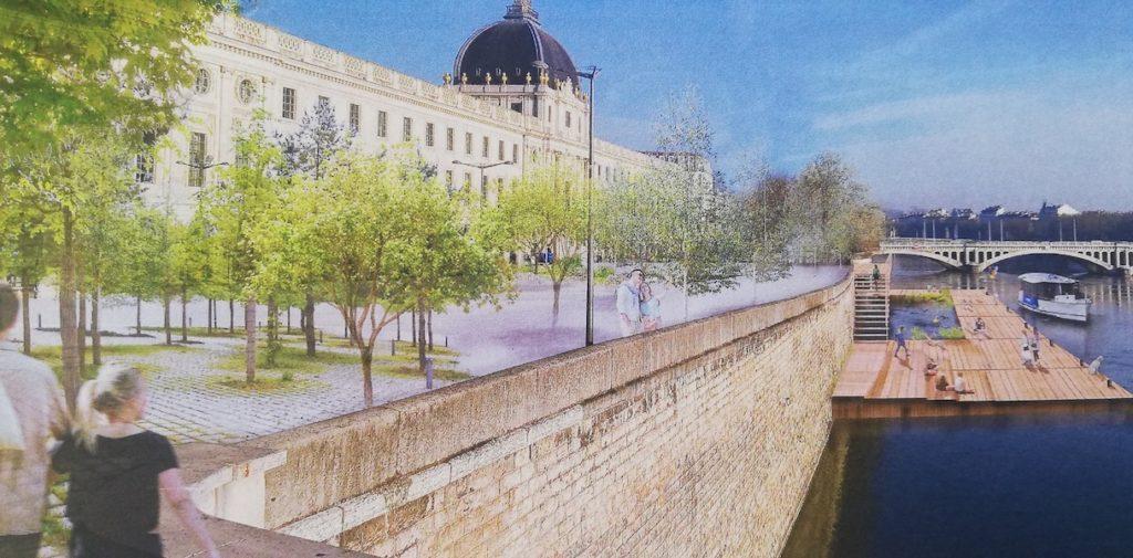 L'aménagement de l'Hôtel-Dieu imaginé par Georges Képénékian et David Kimelfeld