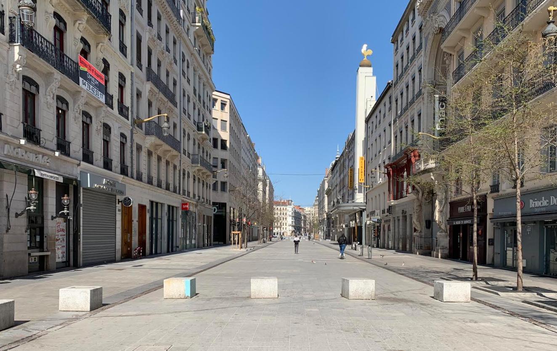 Rue de la république durant le confinement