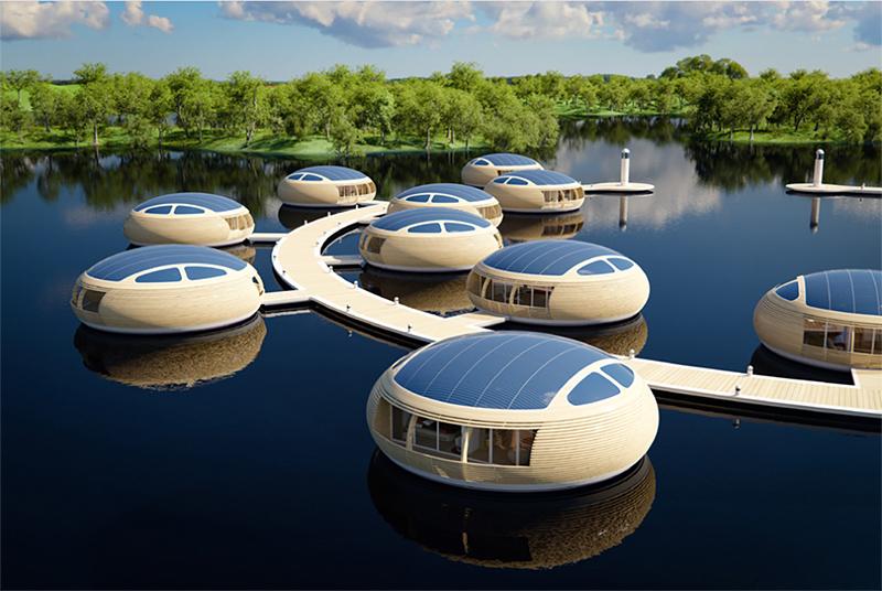 EcoFloLife et ses maisons flottantes