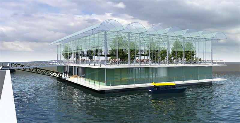 Ferme flottante à Rotterdam
