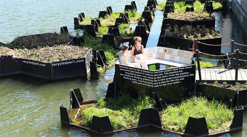 Parc flottant à Rotterdam