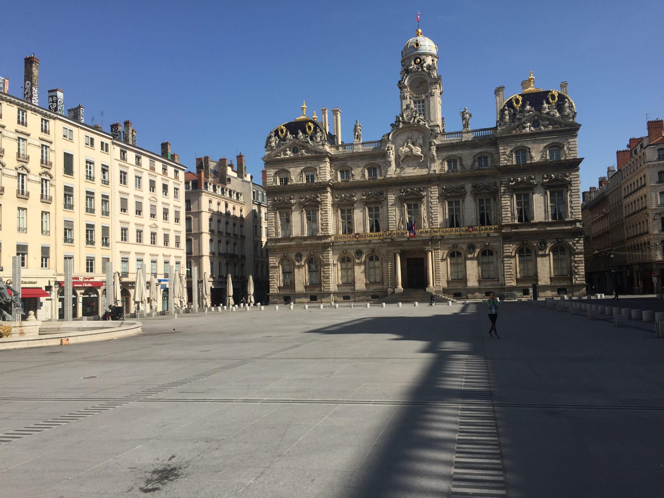 Coronavirus à Lyon : les Terreaux vides