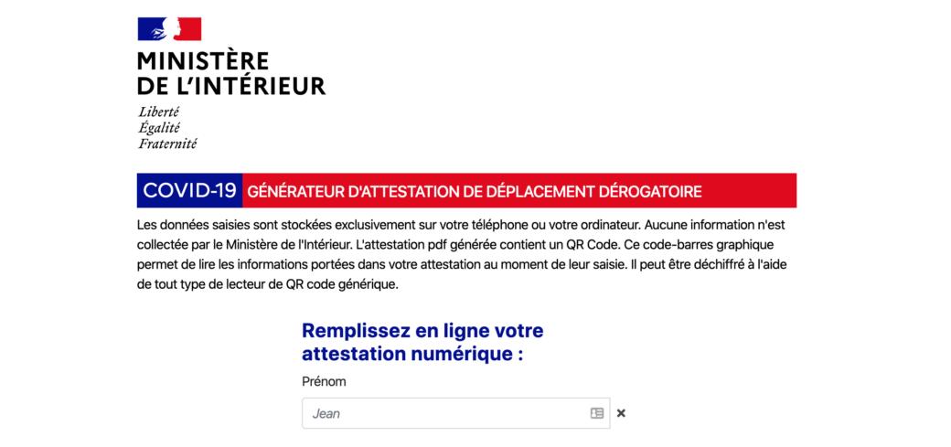 L Attestation De Deplacement Derogatoire Numerique Est En Ligne Pour Les Mobiles