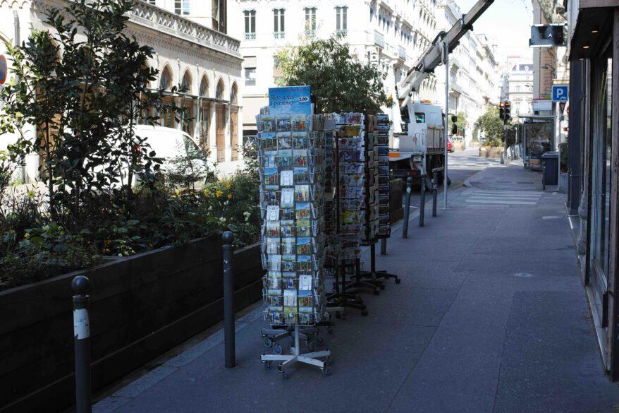 Confinement à Lyon durant le coronavirus - des cartes postales