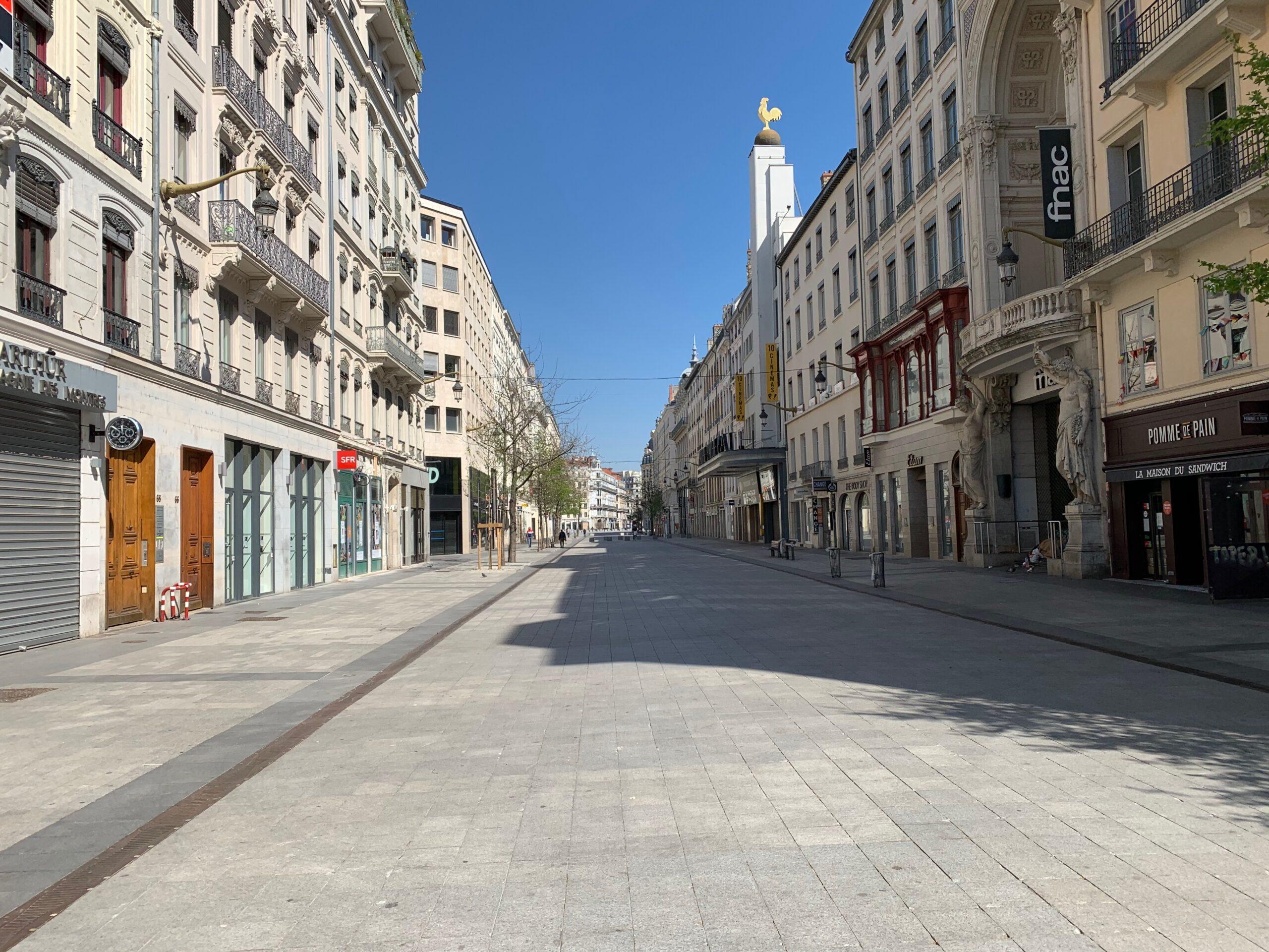 Confinement à Lyon : rue de la République