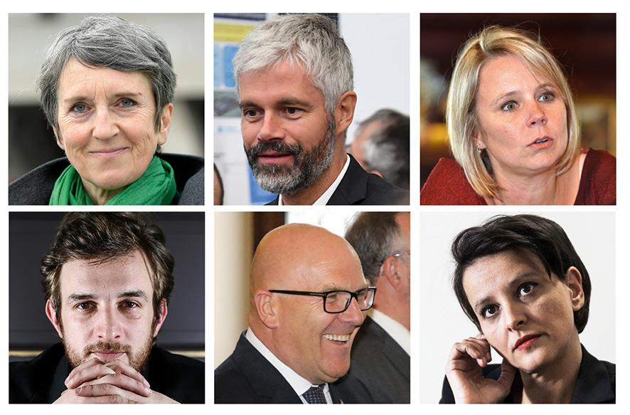 Les candidats aux régionales en Auvergne-Rhône-Alpes © Antoine Merlet © AFP © Maxppp