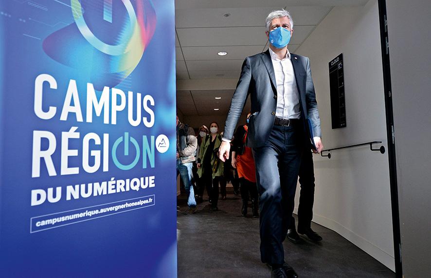Laurent Wauquiez lors de l'inauguration du campus du numérique