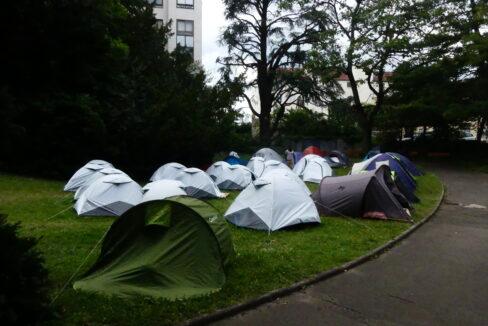 Un camp de migrants à la Croix-Rousse.