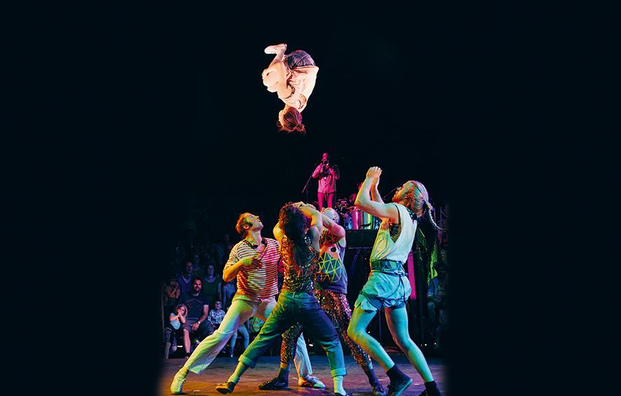 Cirque : haute voltige à la Mouche de Saint-Genis-Laval |