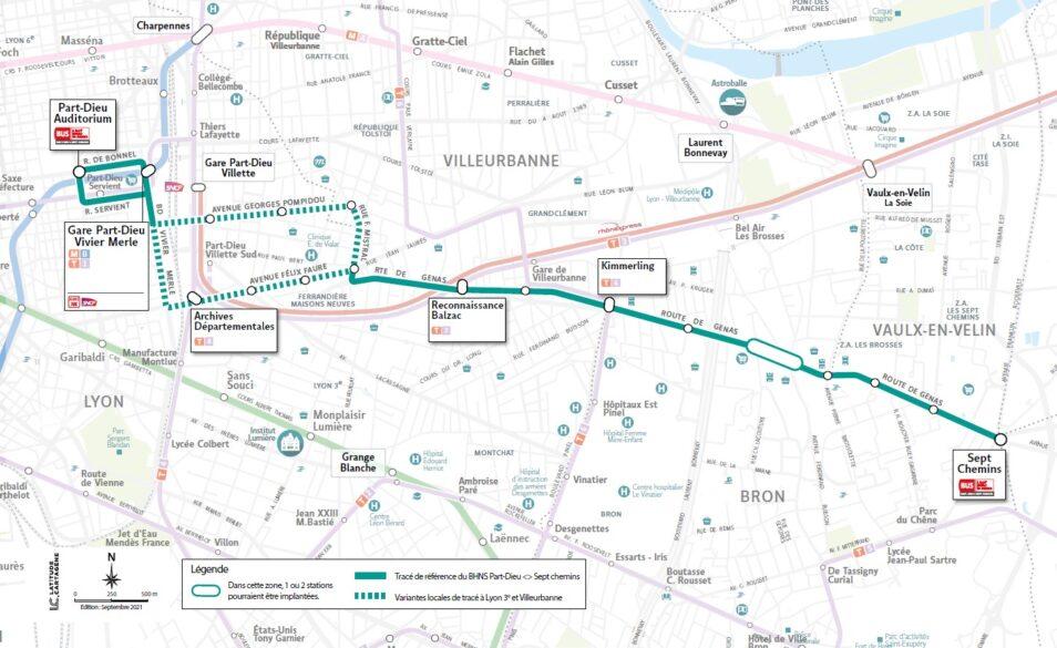 """""""Tram sur pneu"""" entre Lyon - Part-Dieu et les Sept Chemins : une réunion publique ce lundi à Villeurbanne"""